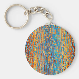Multi Colour Background Key Ring