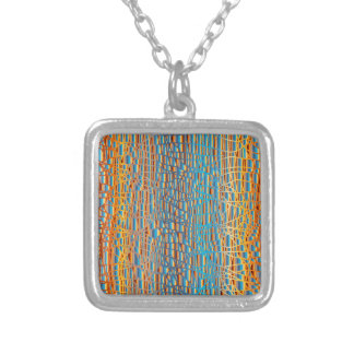 Multi Colour Background Silver Plated Necklace