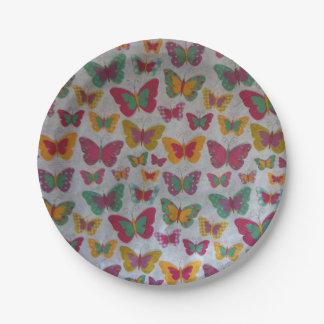 MULTI-COLOUR butterflies Paper Plate