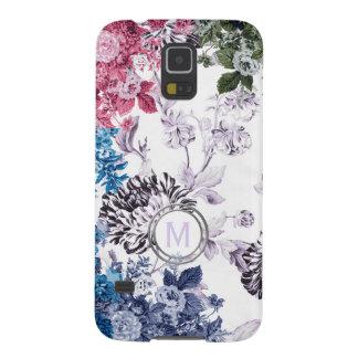 Multi Colour Floral Garden Monogram Galaxy S5 Case