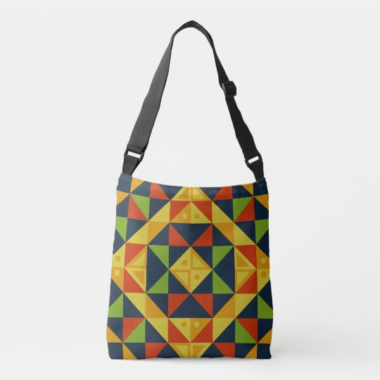 Multi-Colour Geometric Pattern All-Over Tote Bag