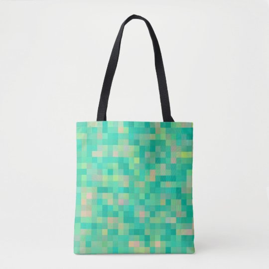 Multi-Colour Green Pattern Tote Bag