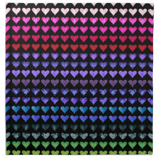 Multi Colour Hearts Printed Napkin