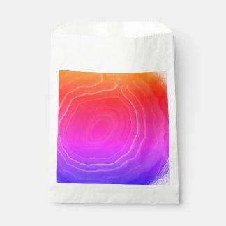 Multi colour pink blue orange agate slice bags