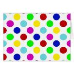 Multi Colour Polka Dots Greeting Card