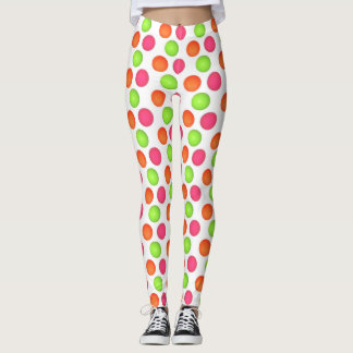 MULTI- COLOUR POLKA DOTS LEGGINGS