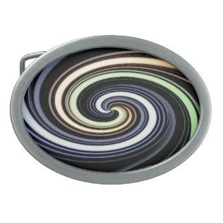 Multi colour spiral belt buckle