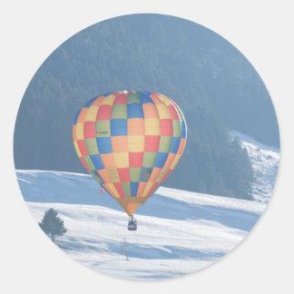 Multi-coloured Balloon Swizterland Round Sticker