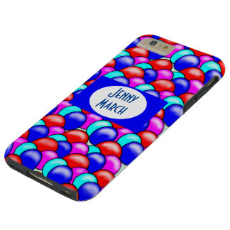 Multi-coloured balloons monogram phone case