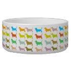 Multi-Coloured Basset Pet Bowl