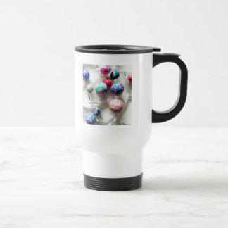 multi coloured beaded necklace coffee mug