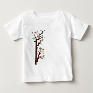 Multi Coloured Birds in Tree Baby T-Shirt