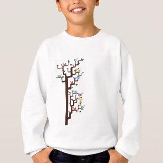 Multi Coloured Birds in Tree Sweatshirt