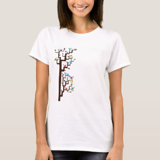 Multi Coloured Birds in Tree T-Shirt