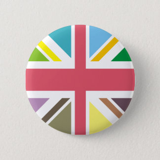 Multi Coloured British Flag 6 Cm Round Badge