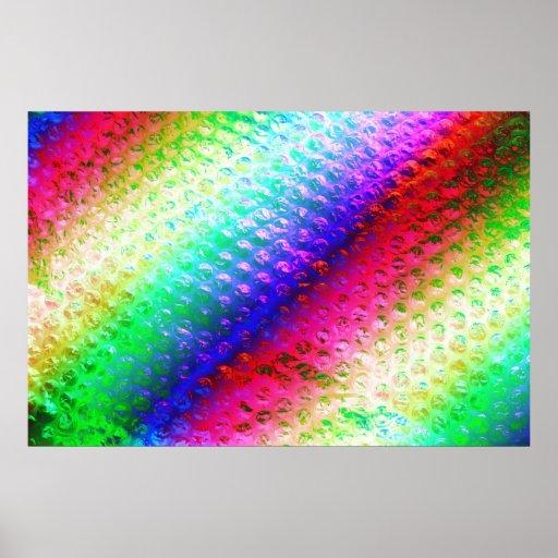 Multi coloured bubble wrap poster