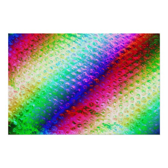 Multi coloured bubble wrap poster