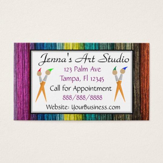 Multi Coloured Business Card