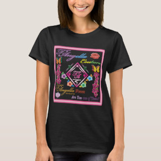 Multi-coloured butterflies and flowers T-Shirt