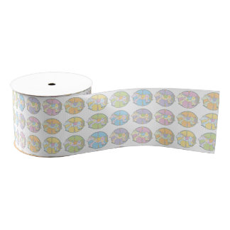 Multi-Coloured Carousel Ponies Grosgrain Ribbon
