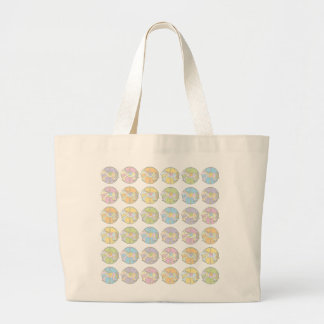 Multi-Coloured Carousel Ponies Large Tote Bag