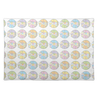 Multi-Coloured Carousel Ponies Placemat
