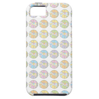 Multi-Coloured Carousel Ponies Tough iPhone 5 Case