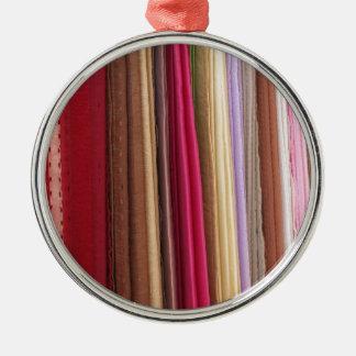 Multi Coloured Cloth Fabric Pattern Ornaments