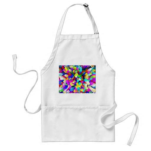 Multi-Coloured Crystalline Block Pattern Apron