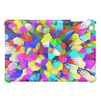 Multi-Coloured Crystalline Block Pattern Case For The iPad Mini