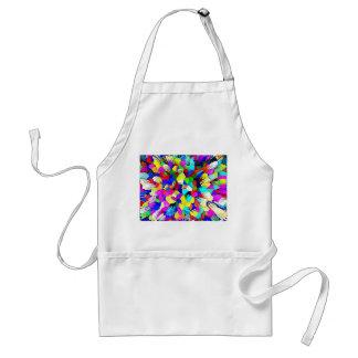 Multi-Coloured Crystalline Block Pattern Standard Apron