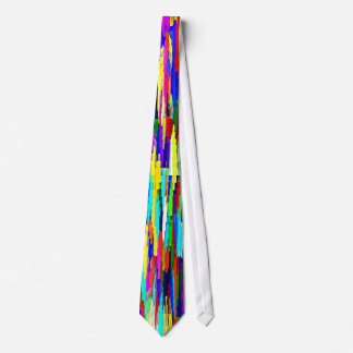 Multi-Coloured Crystalline Block Pattern Tie