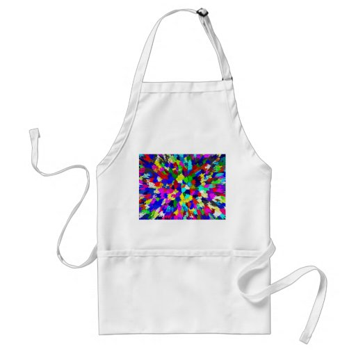 Multi-Coloured Crystals Pattern Aprons