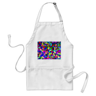 Multi-Coloured Crystals Pattern Standard Apron