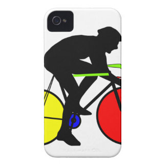 Multi coloured cycling bike iPhone 4 covers