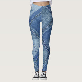 Multi Coloured Denim Leggings