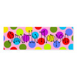 Multi-Coloured Dot Kids Contact Info Pack Of Skinny Business Cards