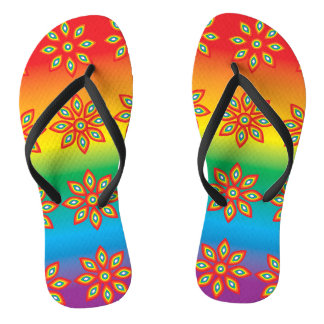 Multi-coloured Flip Flops