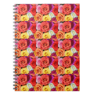 Multi coloured floral notepad spiral notebook