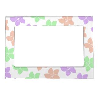 Multi-coloured Flowers Magnetic Frame
