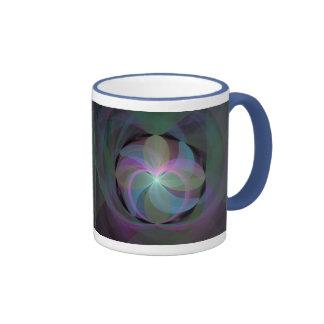 Multi Coloured Fractal Fan Ringer Mug