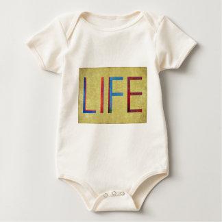 Multi-Coloured Life Vintage Style Motivation Baby Bodysuit