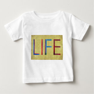 Multi-Coloured Life Vintage Style Motivation Baby T-Shirt
