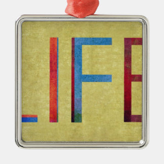 Multi-Coloured Life Vintage Style Motivation Christmas Ornament