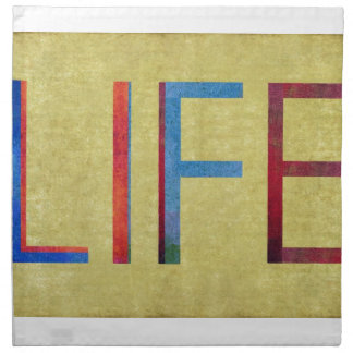 Multi-Coloured Life Vintage Style Motivation Napkin
