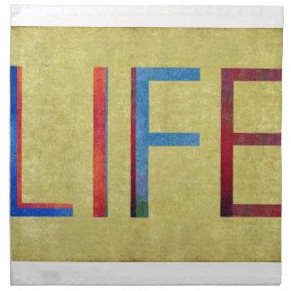 Multi-Coloured Life Vintage Style Motivation Napkin