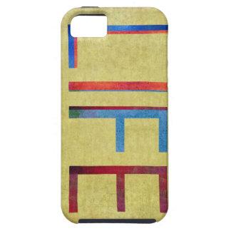 Multi-Coloured Life Vintage Style Motivation Tough iPhone 5 Case