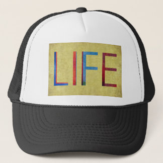 Multi-Coloured Life Vintage Style Motivation Trucker Hat