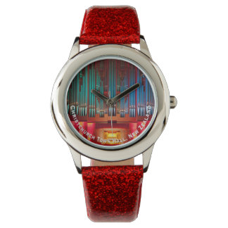 Multi-coloured organ pipes watch