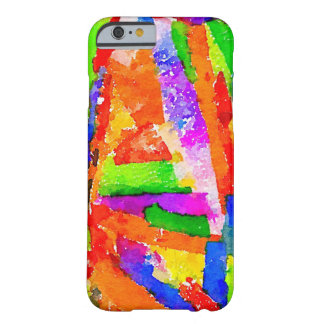 Multi Coloured Painted Paper Collage Barely There iPhone 6 Case